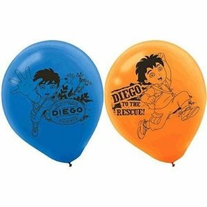 Diego Pack Of 6 Latex Rubber Balloons
